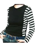 Black & White Striped T-Shirt Top