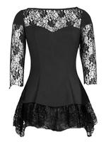 Black Lace Gothic Top