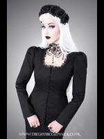 Black Button Gothic Blouse - Restyle